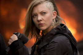Natalie Dormer in the Hunger Games