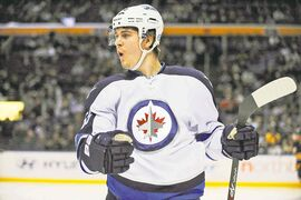 Jets centre Mark Scheifele scored twice against the Sabres Dec. 17, helping carry him to a 14-point surge in the last 16 games.