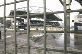 The new stadium has suffered from numerous design and construction issues, the latest of which is snowmelt leaking into luxury suites and the visitors' dressing room.