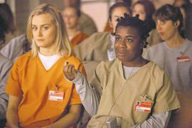 NetflixUzo Aduba (right, with Taylor Schilling) picked up a comedy Emmy last year for her work  on the not-always-comedic series Orange Is the New Black.