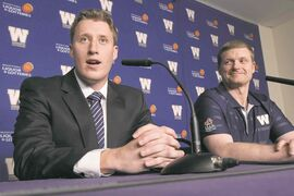 Bomber pivot Drew Willy (left) and head coach Mike O'Shea form the backbone of a team that will be a legitimate contender for years to come, starting as soon as next season.