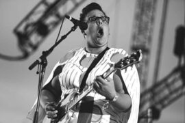 Brittany Howard of Alabama Shakes performs at the 2015 Coachella Music and Arts Festival in Indio, California.