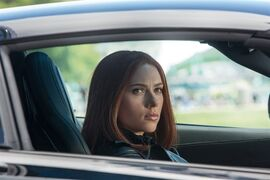 This image released by Marvel shows Scarlett Johansson in a scene from