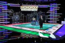 "In this undated photo provided by Monopoly Millionaires' Club, Bill Gardell hosts the exciting new gameshow ""Monopoly Millionaires' Club"" where contestants play for a chance to win $1 million. The show debuts the weekend of March 28-29, 2015. (AP Photo/Monopoly Millionaires' Club, Ronda Churchill)"