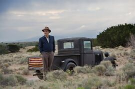 This photo released by WGN America shows, John Benjamin Hickey as Frank Winter, in a scene from the TV series,