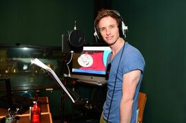 This 2014 photo provided by courtesy of HIT Entertainment shows Academy Award-winner Eddie Redmayne, who voices the role of Ryan, a new engine, in the upcoming animation movie,
