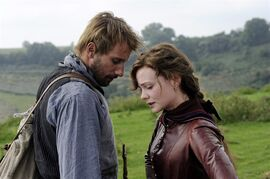 Carey Mulligan, right, and Matthias Schoenaerts appear in a scene from