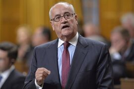 Veterans Affairs Minister Julian Fantino answers a question during Question Period in the House of Commons on Parliament Hill in Ottawa, Thursday Sept.18, 2014 . Fantino says the department's $1.1 billion dollars in unused funding over seven years is