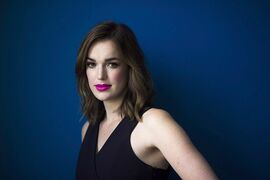 Actor Elizabeth Henstridge poses for a photo in Toronto on June 5, 2014. THE CANADIAN PRESS/Michelle Siu