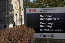The Canada Revenue Agency headquarters in Ottawa is pictured on November 4, 2011. THE CANADIAN PRESS/Sean Kilpatrick