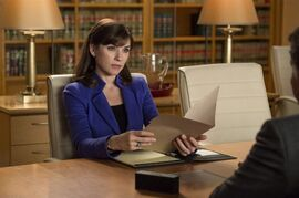 Julianna Margulies as Alicia Florrick is shown in a scene from