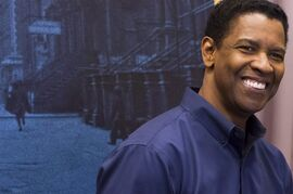 Denzel Washington appears at a press opportunity for the upcoming Broadway production of