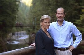Prince Edward and the Countess of Wessex Sophie Rhys-Jones pose for a photo in North Vancouver, on Sunday, Sept. 14, 2014. THE CANADIAN PRESS/Jonathan Hayward