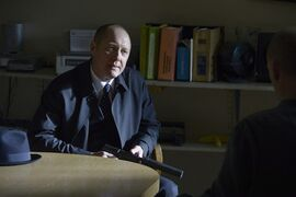James Spader plays Raymond Reddington in a scene from