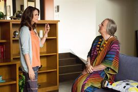 In this image released by Amazon Digital, Amy Landecker, left, and Jeffrey Tambor appear in a scene from