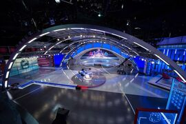 Sportsnet unveils its new state-of-the-art Hockey Central Studio, which debuts Wednesday, Oct. 8 and features nine separate sets and 52 monitors, including the largest in a Canadian television studio. THE CANADIAN PRESS/ HO/Sportsnet