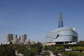 The Canadian Museum For Human Rights is shown in Winnipeg, Thursday, Sept.18, 2014, ahead of it official opening on Friday.