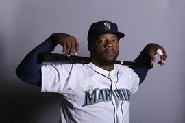 FILE - This is a 2015, file photo showing Rickie Weeks of the Seattle Mariners baseball team. Rickie Weeks has never played any position other than second base. It's no wonder he's spending the early days of spring training with the Seattle Mariners in the outfield.(AP Photo/Charlie Riedel, File)
