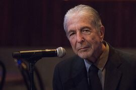 Leonard Cohen attends a listening party for his new album