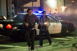 In this image released by Open Road Films, Jake Gyllenhaal, left, and Riz Ahmed appear in a scene from the film,