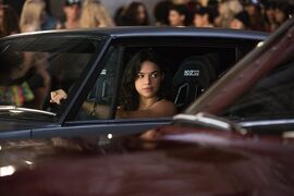 This film publicity image released by Universal Pictures shows Michelle Rodriguez in a scene from
