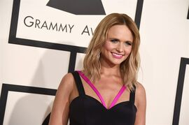 FILE - In this Sunday, Feb. 8, 2015, file photo, Miranda Lambert arrives at the 57th annual Grammy Awards at the Staples Center, in Los Angeles. Lambert says women in country music have to stick together and help one another. (Photo by Jordan Strauss/Invision/AP, File)