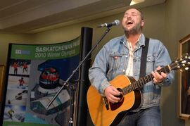 In this file photo from 2009, Jason Plumb performs during a news conference in Regina.