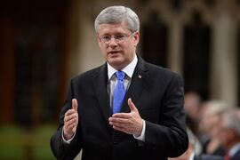 Prime Minister Stephen Harper answers a question during Question Period in the House of Commons, Monday, Sept. 15, 2014 in Ottawa. THE CANADIAN PRESS/Sean Kilpatrick