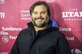 Jack Black poses for a portrait before the premiere of