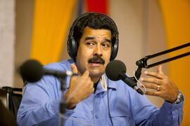 FILE - In this March 11, 2014 file photo, Venezuela's President Nicolas Maduro speaks on his radio and television program called
