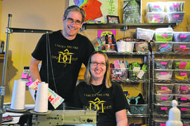 Scott and Crystal Burton of Charleswood tried to secure funding for their business, Tree Hugger Cloth Pads, on the CBC TV show Dragons' Den. The episode featuring the couple aired on Jan. 28.