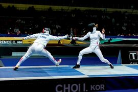 Daria Jorquera Palmer (left) won bronze in both individual and team events in fencing at the Pan American Sport Festival.