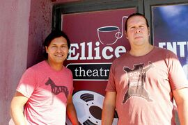 The Adam Beach Film Institute is now operating at its new location, the Ellice Café and Theatre. Pictured: Adam Beach and Jeremy Torrie.