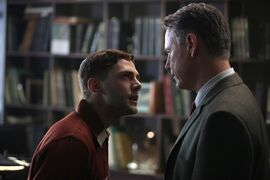 Xavier Dolan (left) and Bruce Greenwood are shown in a scene from the film
