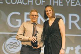 Corydon Community Centre's speed skating coach Bill Gendron was named the Sport Manitoba IMPACT Male Coach of the Year.