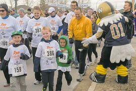Runners take off from the start line at last year's Run at the Ridge event.