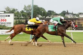 Jet Again (#4) is a close second to classy Edison in Derby trial.