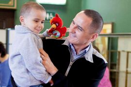 Kevin Chief with his four-year-old son, Hayden.