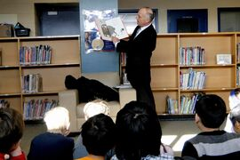One exciting part of February is reading with students for I Love to Read Month. Here Dave Chomiak, MLA for Kildonan, reads with kids from R. F. Morrison School.