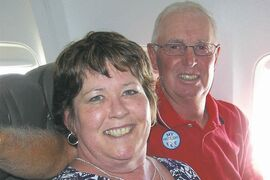 Arleigh Firby, pictured here with husband Bruce, was a $1,000 winner in the Manitoba Lung Association's Manitoba Quits contest in 2014.