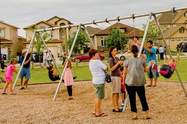 Hundreds of residents gathered for an ice cream party last July to celebrate the progress of the park at the corner of Leila and Strasbourg. An open house to update residents and gather further input is set for March 3 at 6 p.m. at Leila North School.
