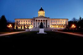 What spirits lurk within the Manitoba Legislative Building?