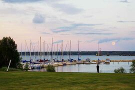 Gull Harbour Marina is the mooring zone for dozens of sailboats.