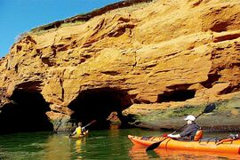 Not many things beat sea kayaking during a visit to Îles de la Madeleine.