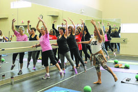 Barre fitness (above) is one of the many activities offered by the Charleswood 55 Plus Active Living Centre.