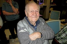 Ninety-year-old Frank Owen puts fellow bowlers to shame in the Early Birds League at Rossmere Lanes.