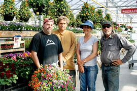 All in the family: (from left) Clint, Larry, Charlene and Greg Bosch run K. Bosch & Sons Greenhouses.