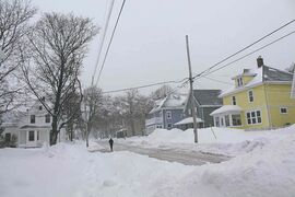 A Charlottetown street scene in the wake of one of the recent storms to hit Prince Edward Island.