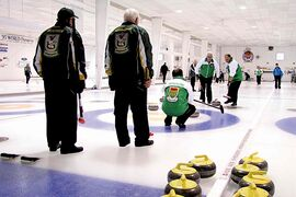 Curlers compete at Assiniboine Memorial Curling Club. The club will host the MCT Championship this December.
