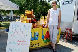 Barbara Coombs, one of the founders of the River Heights Farmers' Market, is pictured. The market runs Fridays from noon to 5 p.m. until Sept. 26.